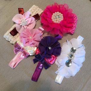 5 pack beautiful infant headbands